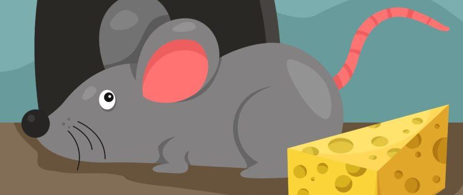 Topo dei cartoni animati i cartoni animati i topi rosa immagine